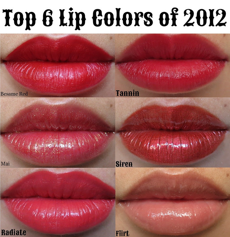 top 6 lips collage