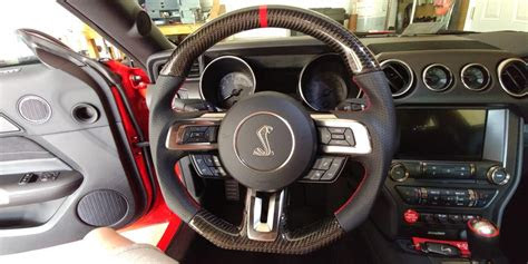 mustang ford steering wheel gt leather