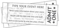 1000+ ideas about Ticket Template Free on Pinterest   Event ticket ...