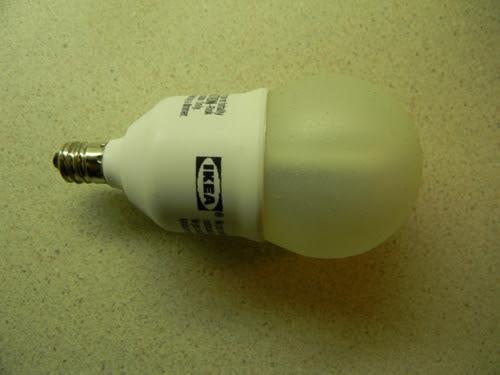 Lighting-Gallery-net - Flourescent Lamps/IKEA 7 Watt Globe CFL
