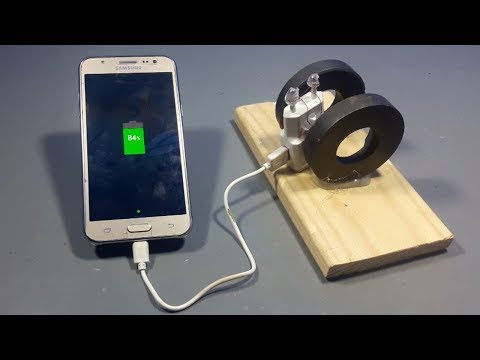 How To Make Free Mobile Charger At Home With Using Magnet  | Electrical Engineering Innovative Projects