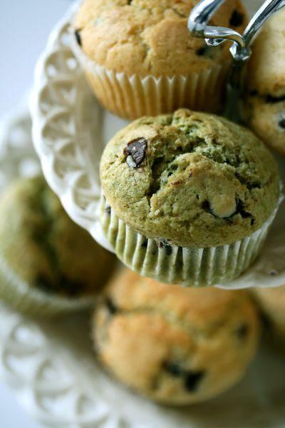 Muffins bianchi e verdi