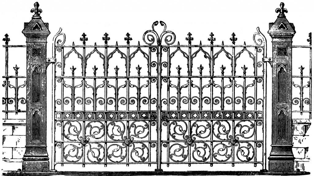 Vintage Halloween Image Gate