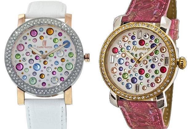 Il «Capri Watch» originale (a sinistra) e il contraffatto (a destra)