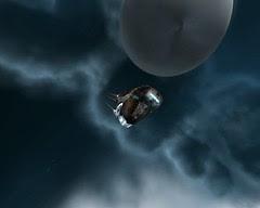Flying towards a stargate