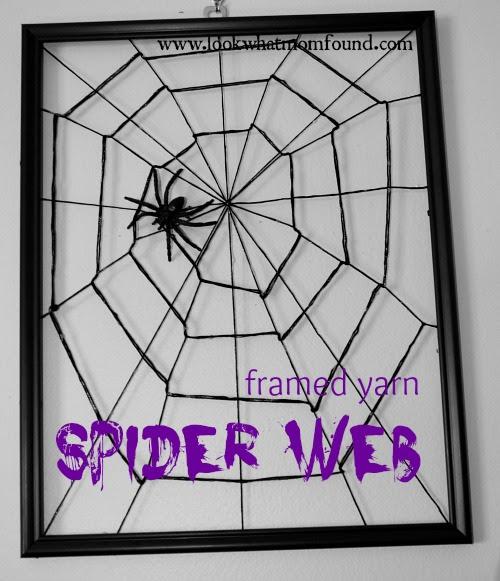 DIY Yarn Spider Web #craft