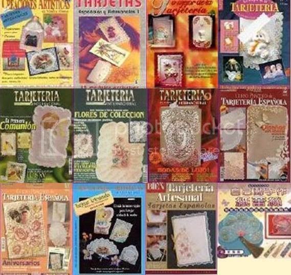 revistas tarjeteria papel pergamino gratis envio