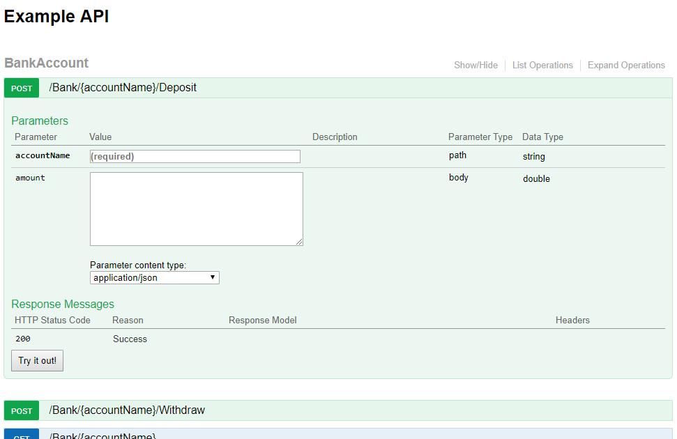 Swagger for ASP NET Core API development