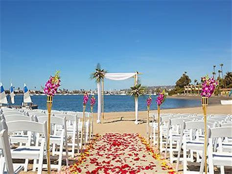 Bahia Resort Hotel Southern California Weddings San Diego