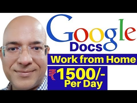 Best work from home | Part time job | Freelance | Google Docs | fivver.c...