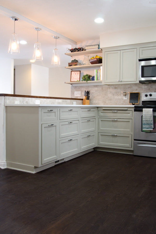 remodeled kitchen with refinished wood floor Ramblings from the Burbs on Remodelaholic
