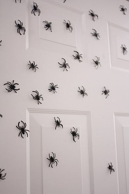 magnetic spiders for the front door..great idea!!!