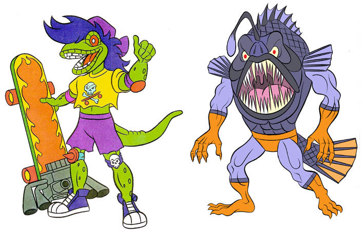 (TMNT Spinoff) ..Mutanimals The Animated Series! - Mondo Gecko & Angleron..[[Courtesy of Ryan Brown]] ((1992))