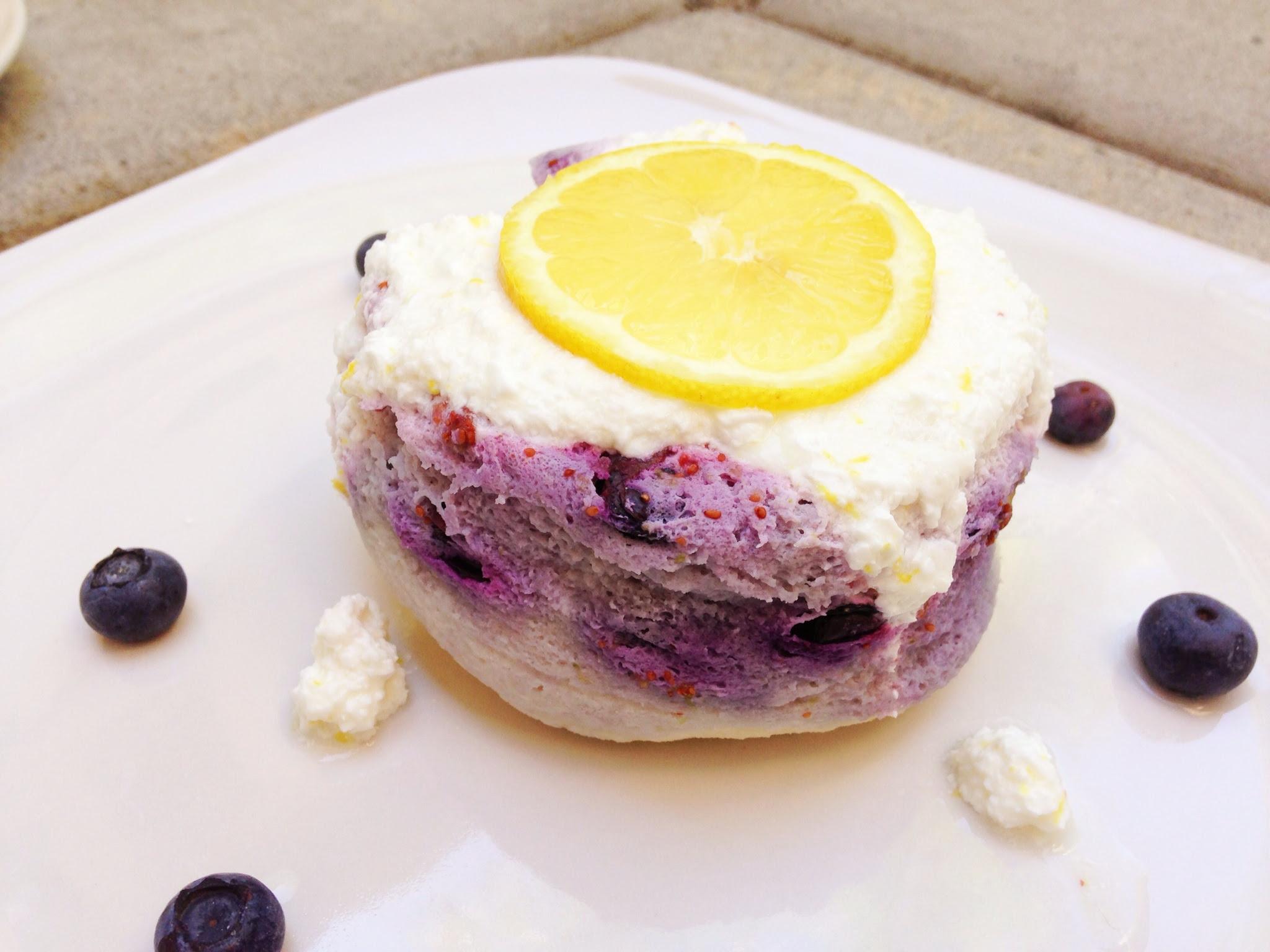 Fantastically Fit   Lemon Blueberry Protein Mug Cake!