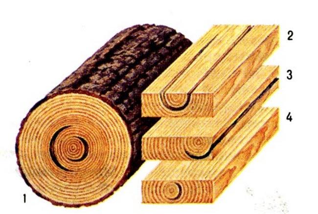 Трещины древесины, естественные пороки древесины