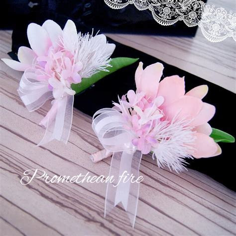 Cheap Sale DIY New Best Man Groom Boutonniere Silk Satin