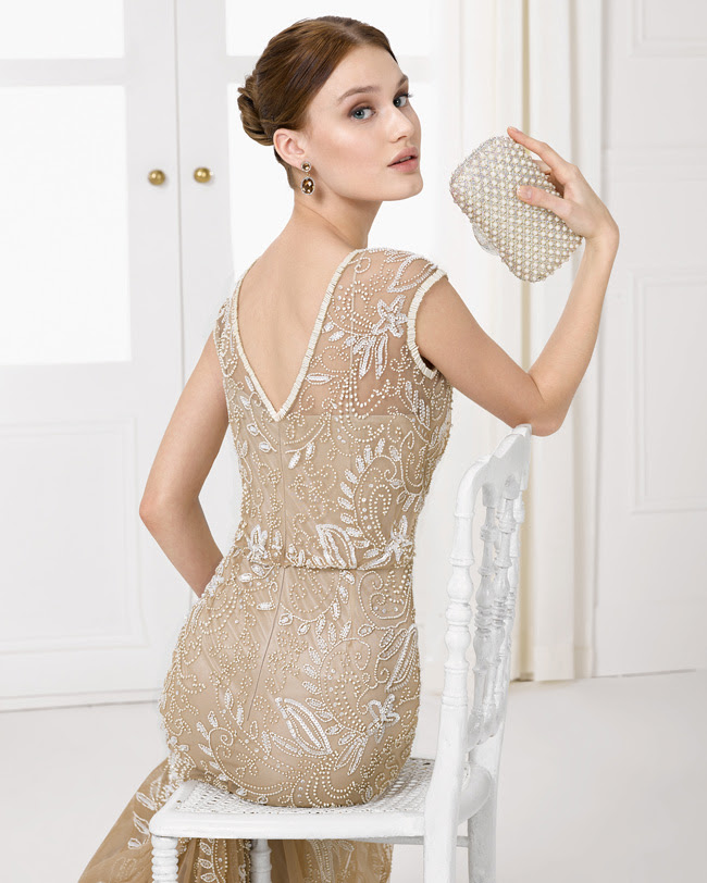 Gold Sequin Beaded Sheath Long Sleeveless Bateau Neck Tulle Sparkling Beadeded Bridesmaid Dress _1