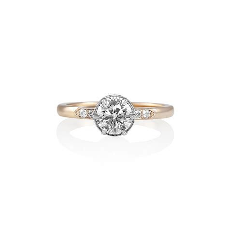 Gabi Rose Gold and Platinum Diamond Engagement Ring
