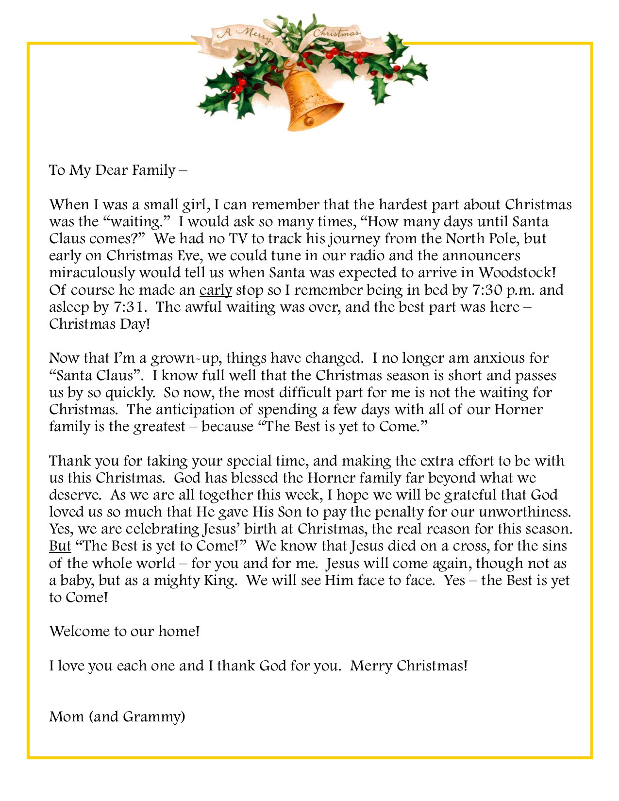 Invitation Letter For Christmas Party