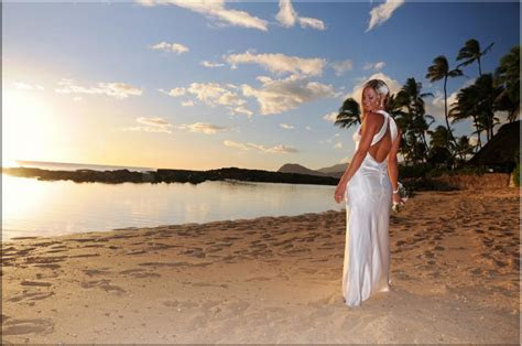 Sunset Beach Weddings on the Island of Oahu Hawaii
