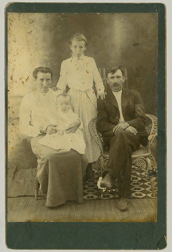 Cabinet Card four with wicker chair