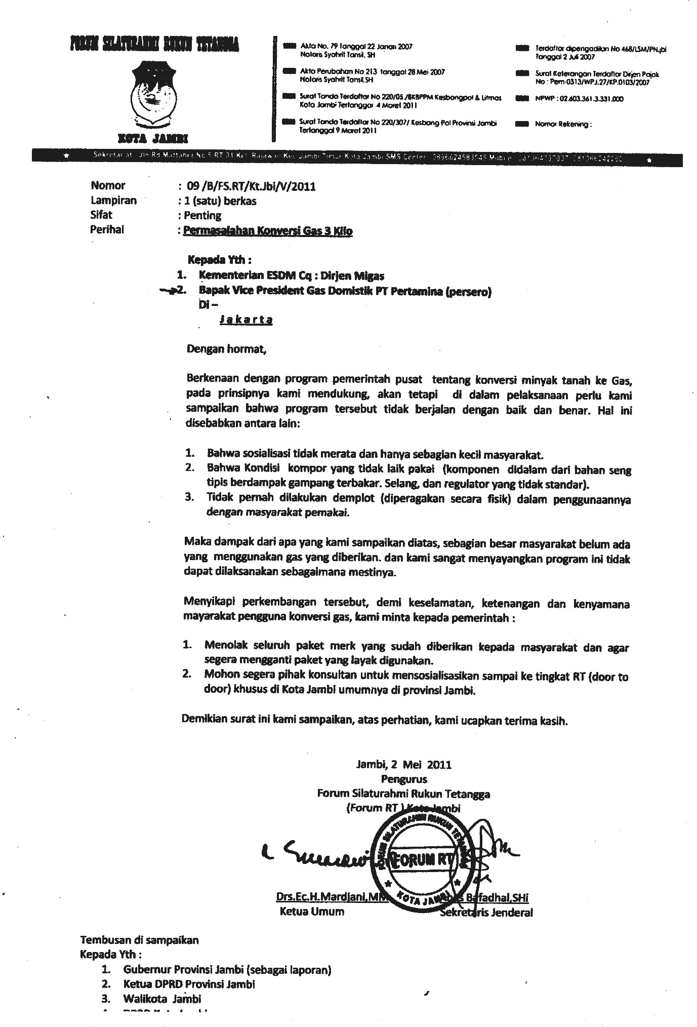 Contoh Surat Balasan Resmi Pemerintah Surasmi I