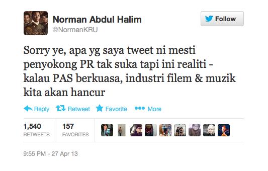 Artis Respon Kenyataan Norman Kru