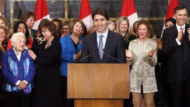 Justin Trudeau célèbre la Journée internationale de la femme en 2016.
