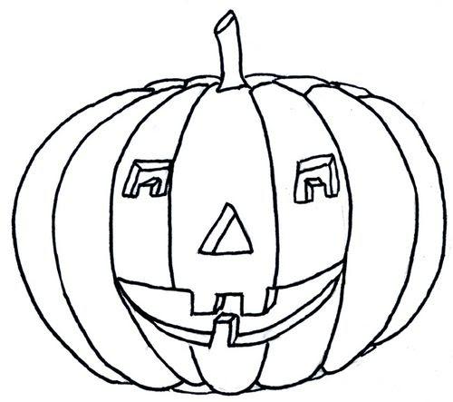 Coloriage Halloween Citrouille Le Blog De Ludovica