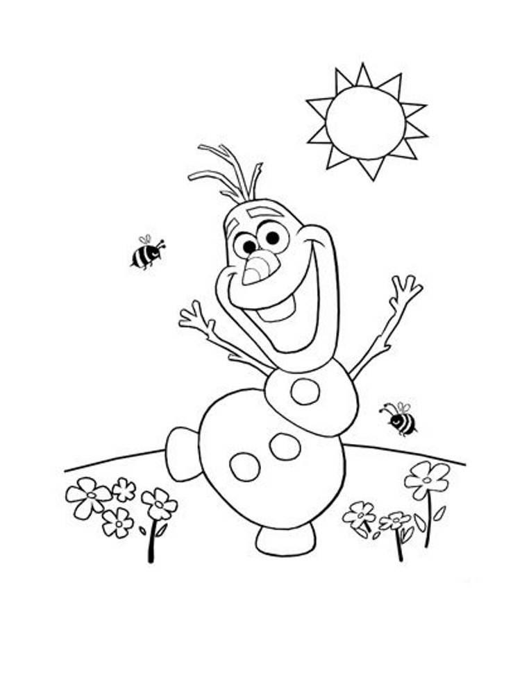 41 Dessins De Coloriage Olaf à Imprimer Sur Laguerchecom Page 1