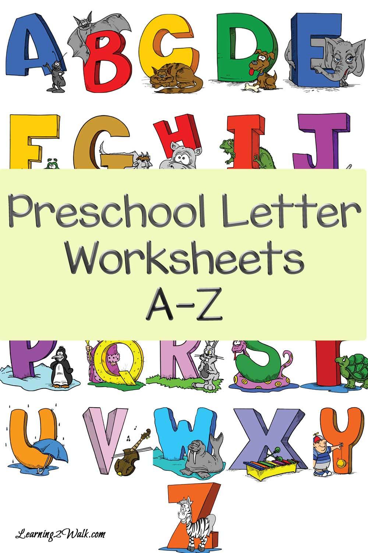 FREE Preschool A Z Worksheets