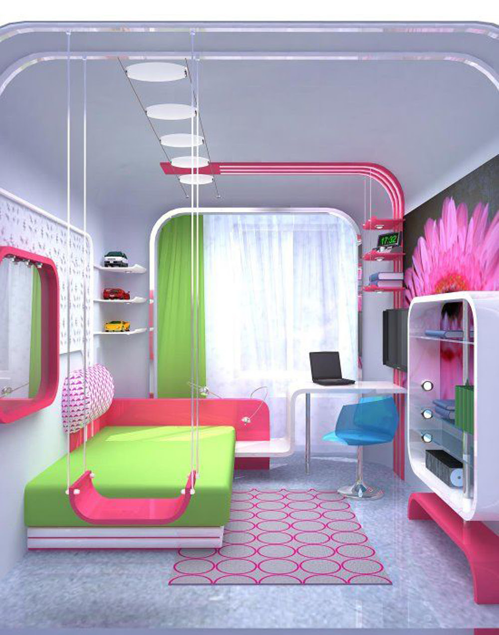 Stylish colorful bedrooms for girls - AllArchitectureDesigns