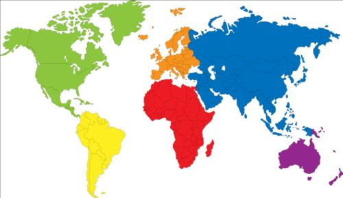 Bildresultat för world map simple