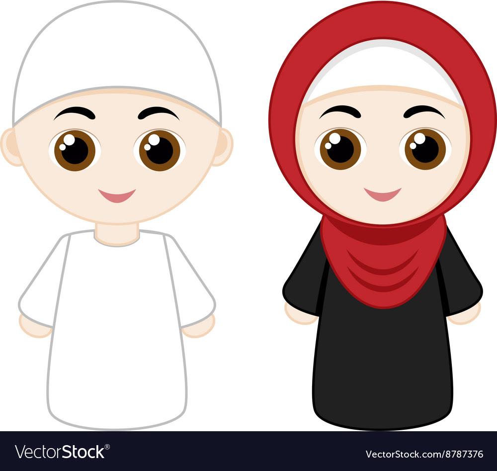 850 Koleksi Gambar Kartun Muslimah Vector Gratis Terbaru