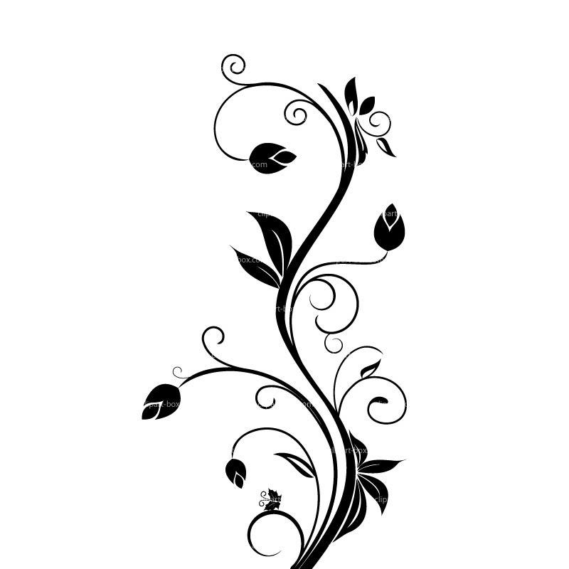 Flower Flower Border Design Outline
