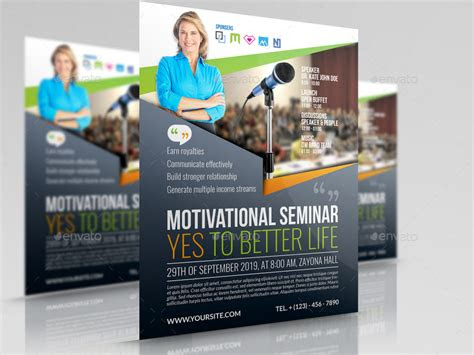 seminar flyer templates  owpictures graphicriver