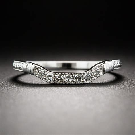 Art Deco Style Square Contour Wedding Band