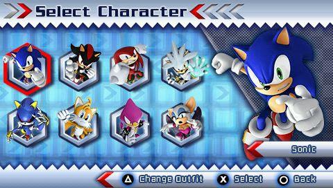 Pspでsegaのソニックが大暴れ Sonic Rivals 2 R35 Custom Psp Info β