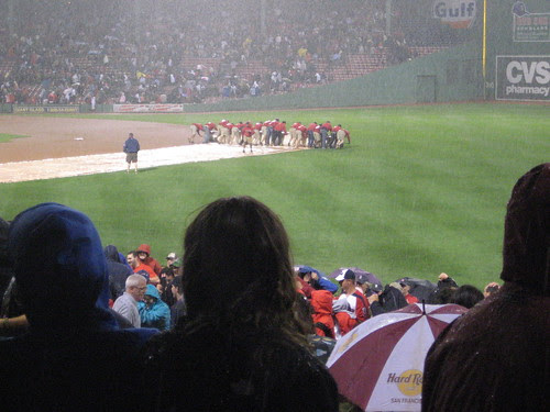 This is my favorite part of rain delays.