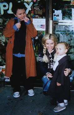 Freddie as the 10th Doctor, Morgan as Rose and Isaac as Captain Jack
