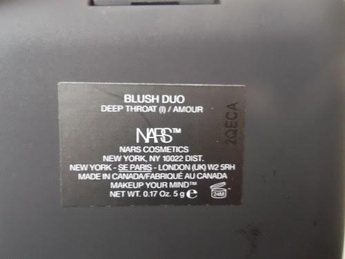 Blush Duo Teintes Deepthroat et Amour - Edie Box - NARS X Andy Warhol