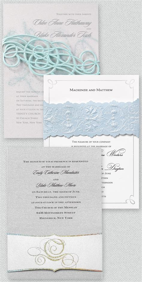 The Disney Fairy Tale Weddings Invitation Collection from