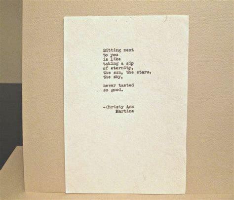 Eternity Love poem romantic cotton anniversary or