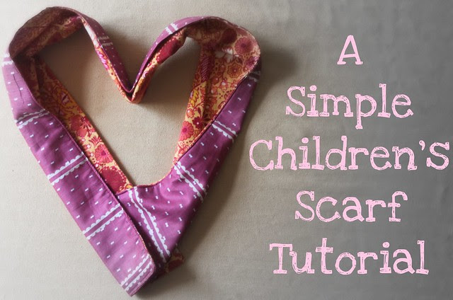 Practical Fall Sewing : : A Simple Children's Scarf Tutorial