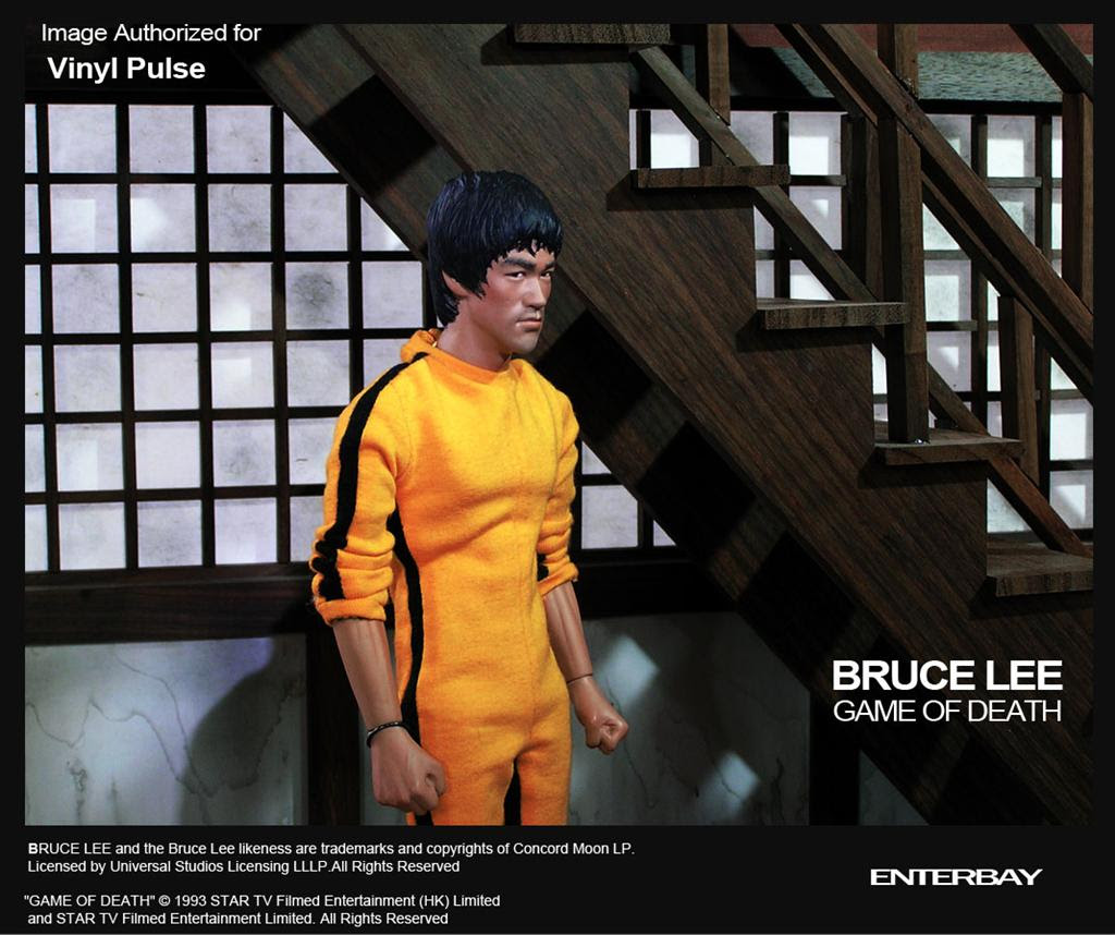 12 Bruce Lee Game Of Death Figure From Enterbay Vinyl Pulse