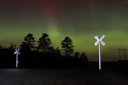 Northern Lights over Cass Lake