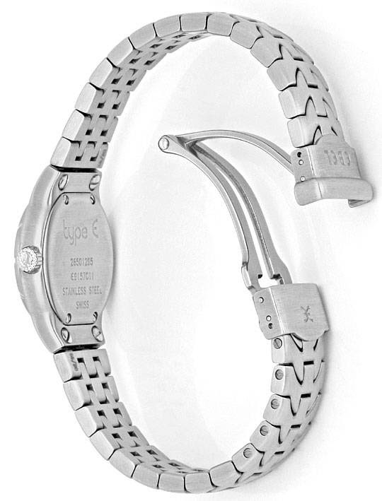 Foto 8, Ebel Uhr Mini E-Type Etype Edelstahl-Armband Ungetragen, U2025