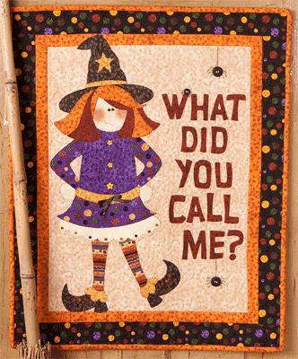 What Did You Call Me? wallhanging from the book Happy Haunters by Kelly Mueller of The Wooden Bear.