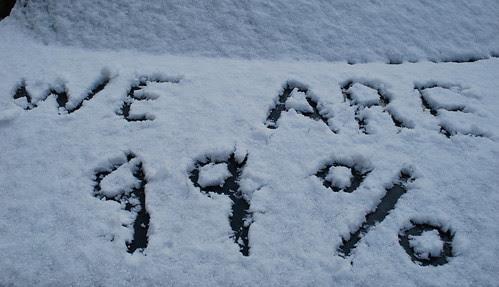 Written in the snow