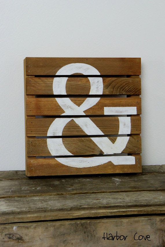 rustic Sign Stain Rustic ampersand $39.00  HarborCove, Wood Light Pallet in sign by Ampersand